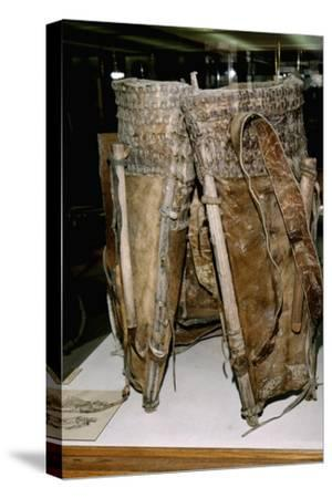 Leather Russacks found in Salt Mines of Hallstatt, Austria. Celtic Iron Age, c6th century BC-Unknown-Stretched Canvas Print