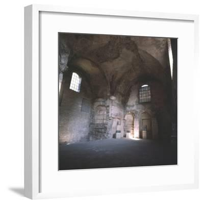 Interior of the Roman Baths, incorporated in the Cluny Monastery, Paris, c20th century-Unknown-Framed Photographic Print
