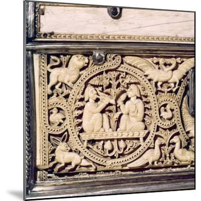 Detail of front of Ivory Casket, Hispano-Arabic work, Cordoba, 11th centur-Unknown-Mounted Giclee Print
