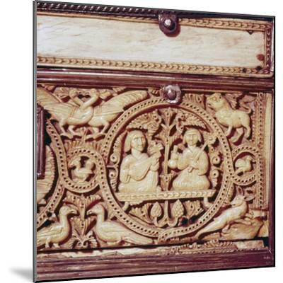 Detail of front of Ivory Casket, Hispano-Arabic work, Cordoba, 11th century-Unknown-Mounted Giclee Print