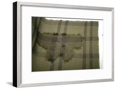 Fragment of oven cloth, and reconstruction, from Halstatt, Austria. Celtic Iron Age-Unknown-Framed Giclee Print