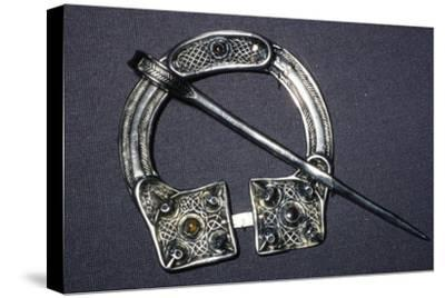Celtic Penannular Brooch from Ballynaglough, 8th century-Unknown-Stretched Canvas Print