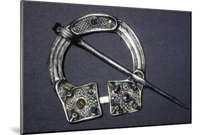 Celtic Penannular Brooch from Ballynaglough, 8th century-Unknown-Mounted Giclee Print