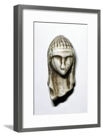 Female Head from Brassempovy, France, Upper Paleolithic, (c20th century)-Unknown-Framed Giclee Print