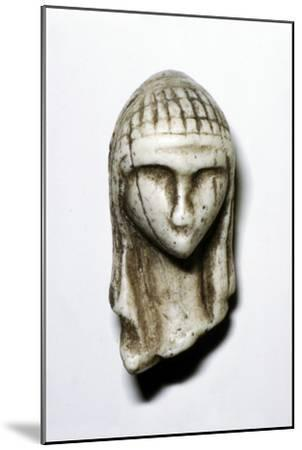 Female Head from Brassempovy, France, Upper Paleolithic, (c20th century)-Unknown-Mounted Giclee Print