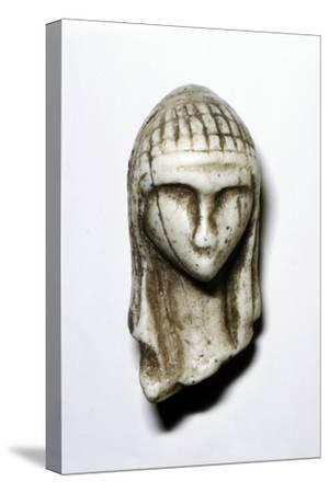 Female Head from Brassempovy, France, Upper Paleolithic, (c20th century)-Unknown-Stretched Canvas Print