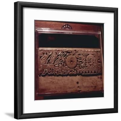 Detail from Franks Casket', whalebone Northumbrian work, c700-Unknown-Framed Giclee Print