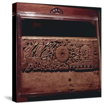 Detail from Franks Casket', whalebone Northumbrian work, c700-Unknown-Stretched Canvas Print