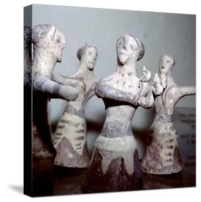 Minoan 'Sacred Dance', Palaikastro, Eastern Crete, Post-Palatial Period, c1400BC- c1100 BC-Unknown-Stretched Canvas Print