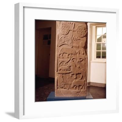 The 'Drosten' Stone, Pictish Cross-Slab from St. Vigeans, c850-Unknown-Framed Giclee Print