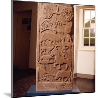 The 'Drosten' Stone, Pictish Cross-Slab from St. Vigeans, c850-Unknown-Mounted Giclee Print