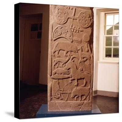 The 'Drosten' Stone, Pictish Cross-Slab from St. Vigeans, c850-Unknown-Stretched Canvas Print