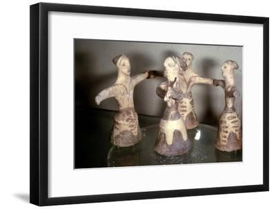 Minoan 'Sacred Dance', Palaikastro, Eastern Crete, Post-Palatial Period, c1400BC- c1100 BC-Unknown-Framed Giclee Print