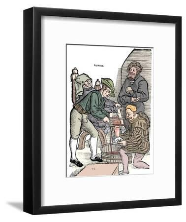 Amputation of a leg without anaesthetic, 1593-Unknown-Framed Giclee Print