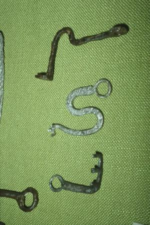 Celtic Iron Keys from Manching Oppidum, Germany, 1st century BC-Unknown-Framed Giclee Print