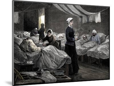 Florence Nightingale in the barrack hospital at Scutari, c1880-Unknown-Mounted Giclee Print