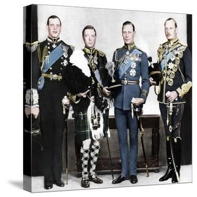 The Prince of Wales with his brothers, c1930s-Unknown-Stretched Canvas Print