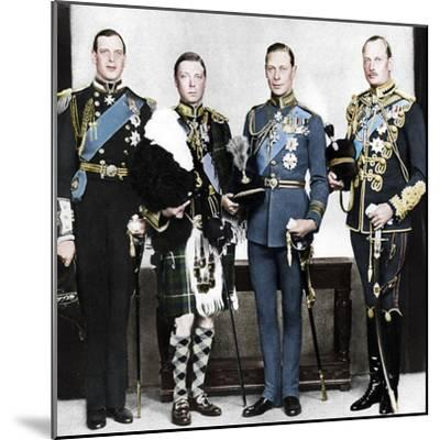 The Prince of Wales with his brothers, c1930s-Unknown-Mounted Photographic Print