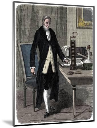 Alessandro Volta, Italian physicist, demonstrating his electric pile (battery), c1800 (c1870)-Unknown-Mounted Giclee Print