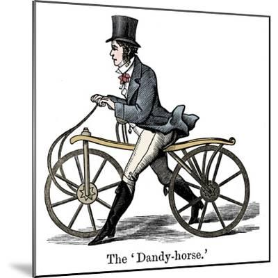 A Dandy-Horse or Draisienne of the type fashionable c1820-Unknown-Mounted Giclee Print