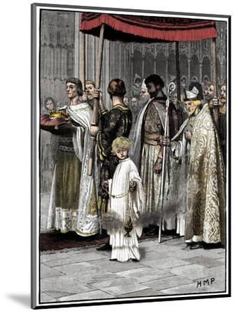 Coronation of Richard I in Westminster Abbey 1189, (c1880)-Unknown-Mounted Giclee Print