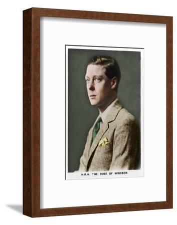 'HRH The Duke of Windsor', 1937-Unknown-Framed Photographic Print