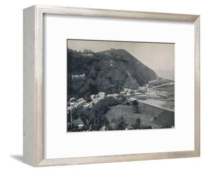 'Lynmouth - The Hill, Showing Lynton Above', 1895-Unknown-Framed Photographic Print