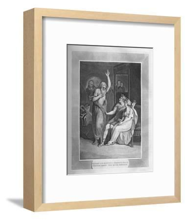 'Bishop Laurentius Shewing His Cerated Body To King Edbald', 1838-Unknown-Framed Giclee Print