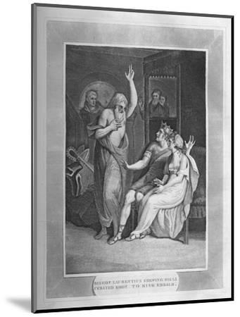 'Bishop Laurentius Shewing His Cerated Body To King Edbald', 1838-Unknown-Mounted Giclee Print