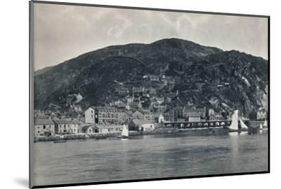 'Barmouth - View from the Mawddach, Showing Heights', 1895-Unknown-Mounted Photographic Print
