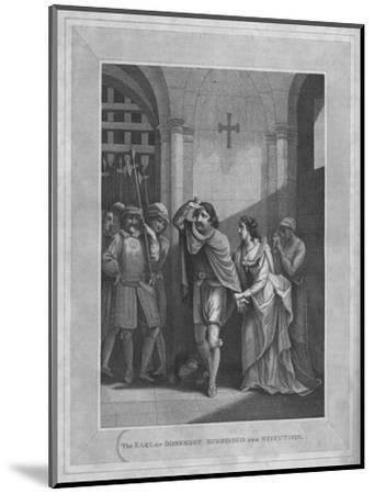 'The Earl of Somerset Summoned for Execution', 1838-Unknown-Mounted Giclee Print