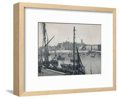 'Margate - The Harbour and the Jetty', 1895-Unknown-Framed Photographic Print