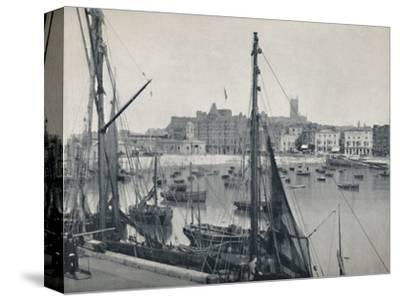 'Margate - The Harbour and the Jetty', 1895-Unknown-Stretched Canvas Print