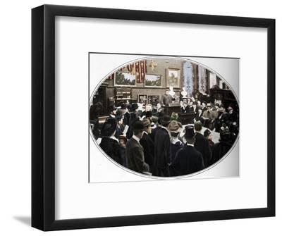 Auction in progress at Phillips auctioneers, London, c1901 (1901)-Unknown-Framed Photographic Print
