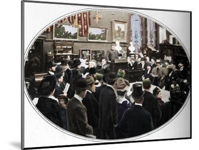 Auction in progress at Phillips auctioneers, London, c1901 (1901)-Unknown-Mounted Photographic Print
