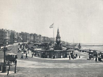 'Brighton - Entrance to the Aquarium, Showing the Chain Pier', 1895-Unknown-Framed Photographic Print