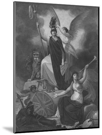 Frontispiece - Britannia holding the Trident of Neptune-Unknown-Mounted Giclee Print
