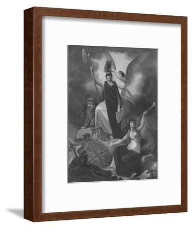 Frontispiece - Britannia holding the Trident of Neptune-Unknown-Framed Giclee Print