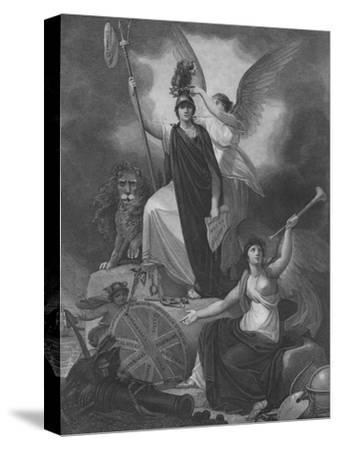 Frontispiece - Britannia holding the Trident of Neptune-Unknown-Stretched Canvas Print