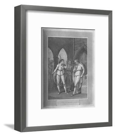 'Henry I., Seizing The Treasure of Winchester', 1838-Unknown-Framed Giclee Print