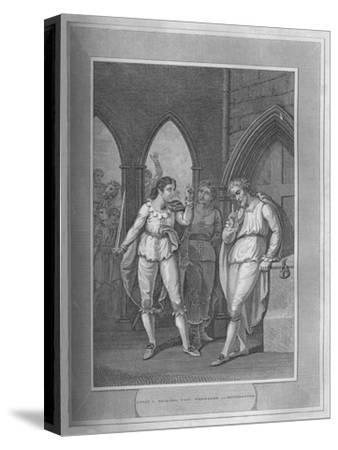 'Henry I., Seizing The Treasure of Winchester', 1838-Unknown-Stretched Canvas Print