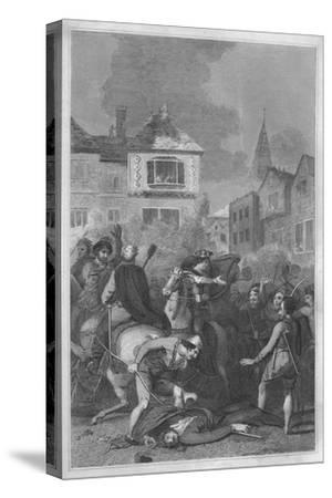 'The Death of Wat Tyler', 1838-Unknown-Stretched Canvas Print