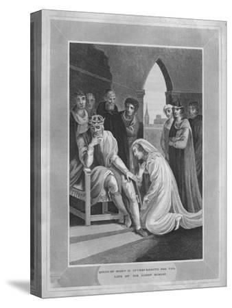 'Queen of Richard II. Interceeding for the Life of Sir Simon Burley', 1838-Unknown-Stretched Canvas Print