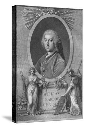 'William, Earl of Chatham', 1790-Unknown-Stretched Canvas Print