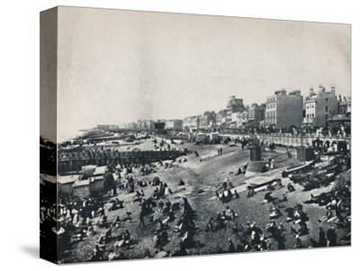 'Brighton - A Long Stretch of the Beach', 1895-Unknown-Stretched Canvas Print