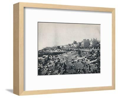 'Brighton - A Long Stretch of the Beach', 1895-Unknown-Framed Photographic Print
