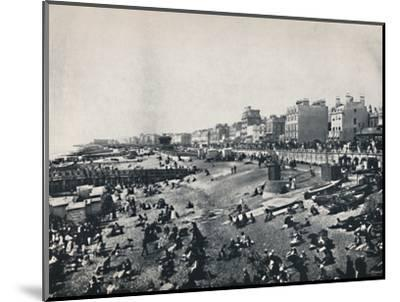 'Brighton - A Long Stretch of the Beach', 1895-Unknown-Mounted Photographic Print