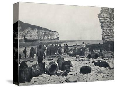'Flamborough - The Fishermen at Work', 1895-Unknown-Stretched Canvas Print