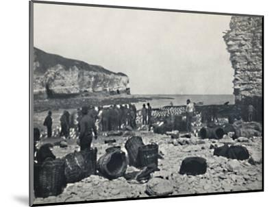 'Flamborough - The Fishermen at Work', 1895-Unknown-Mounted Photographic Print