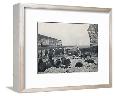'Flamborough - The Fishermen at Work', 1895-Unknown-Framed Photographic Print